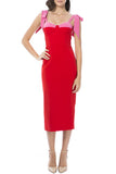 Chantelle Midi Dress - Red/Pink