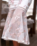 Ciara Dress - Pink Floral Embroidery
