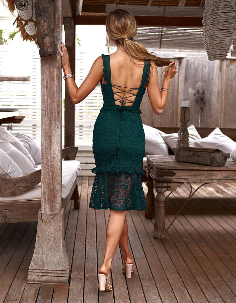 Cordelia Dress - Emerald Green