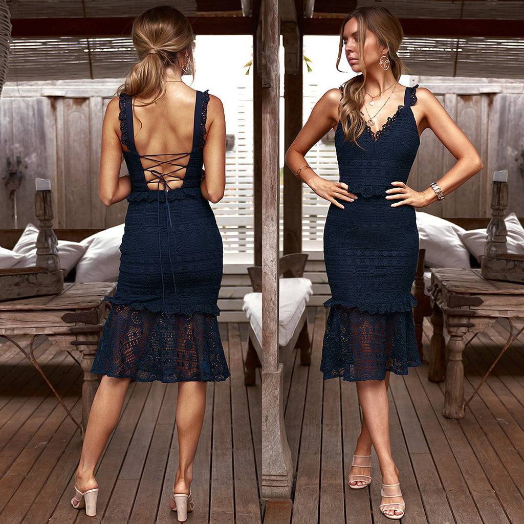 Cordelia Dress - Navy
