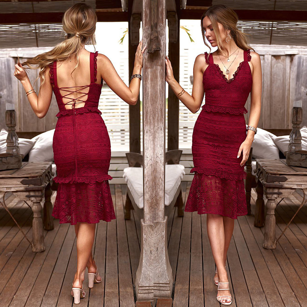 Cordelia Dress - Maroon