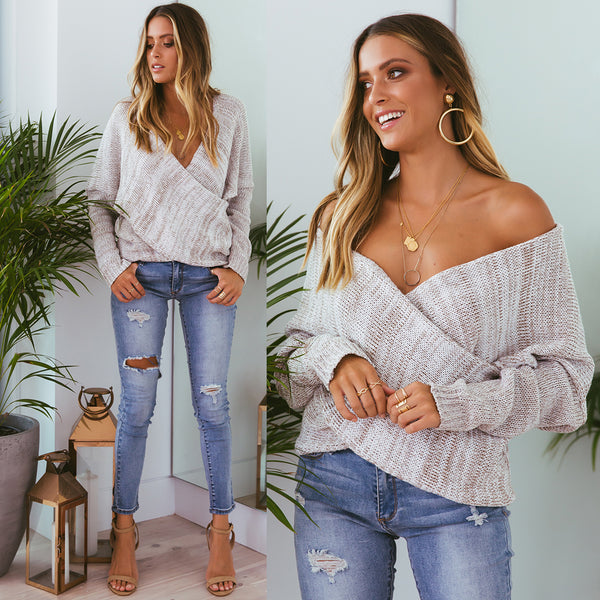 Double Crossed Knit - Sand