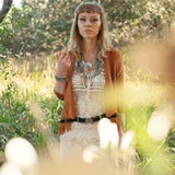 Dusty Road Fringe Jacket - Tan