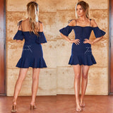 Daynah Dress - Navy