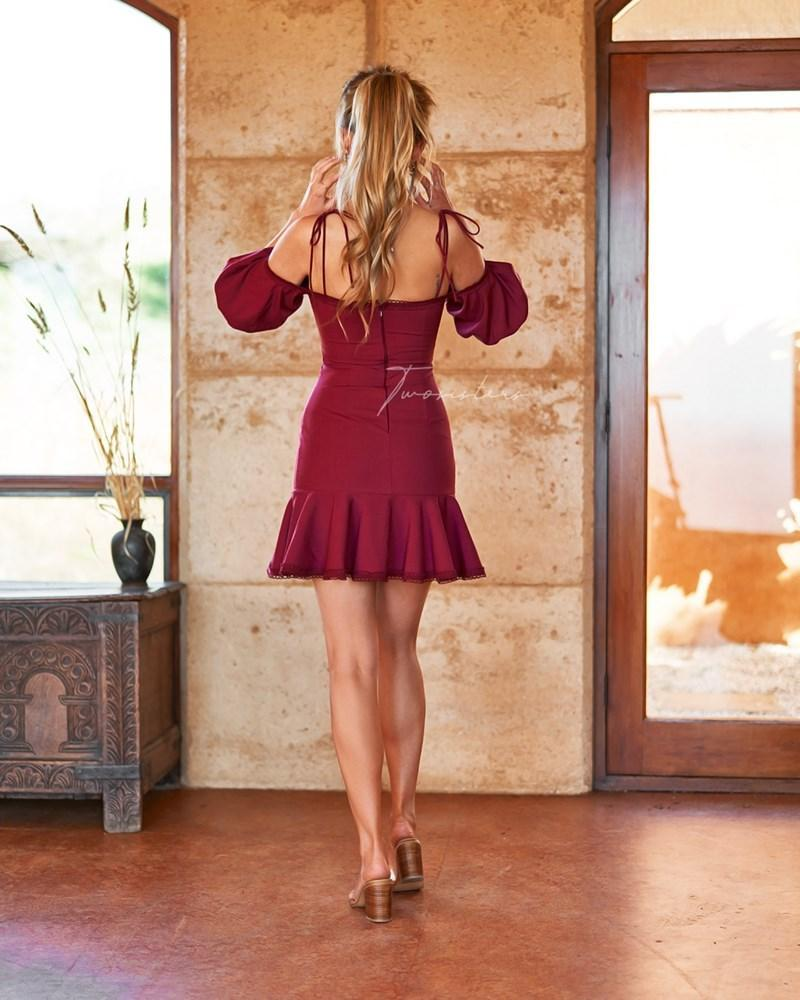 Daynah Dress - Burgundy