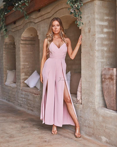 Samira Maxi Dress - Dusty Pink