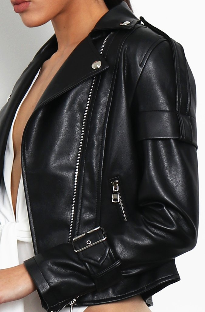 Aria Biker Jacket - Black
