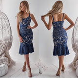 Ella Midi Dress - Navy