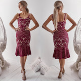 Ella Midi Dress - Deep Red