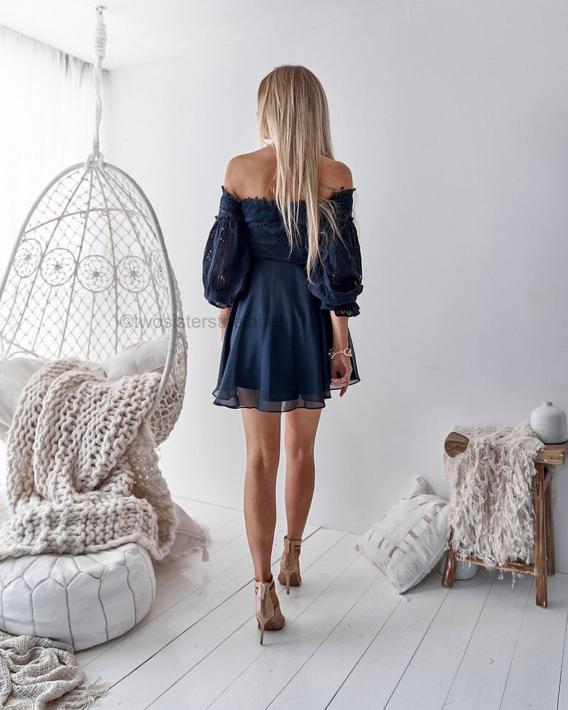 Pre-Order: Emma Dress - Navy