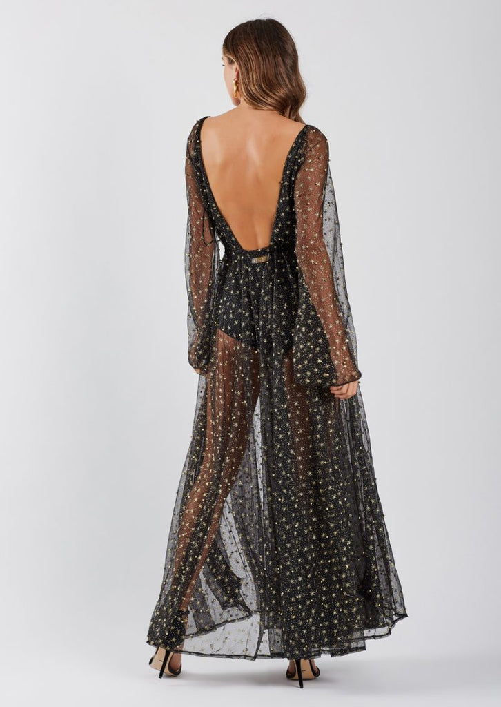 Enchanted Glitter Gown - Black