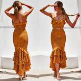 Eva Two Piece Dress Set - Mustard