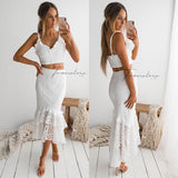 Eva Two Piece Dress Set - White