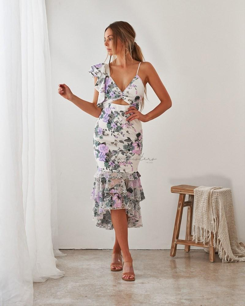 Evaliah Dress - Purple Floral