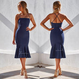 Eveleen Dress - Navy