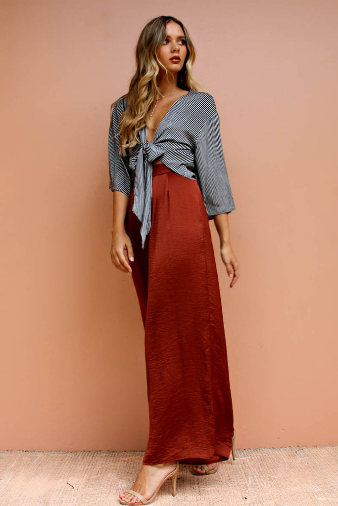 Berry Silky Pant - Rust