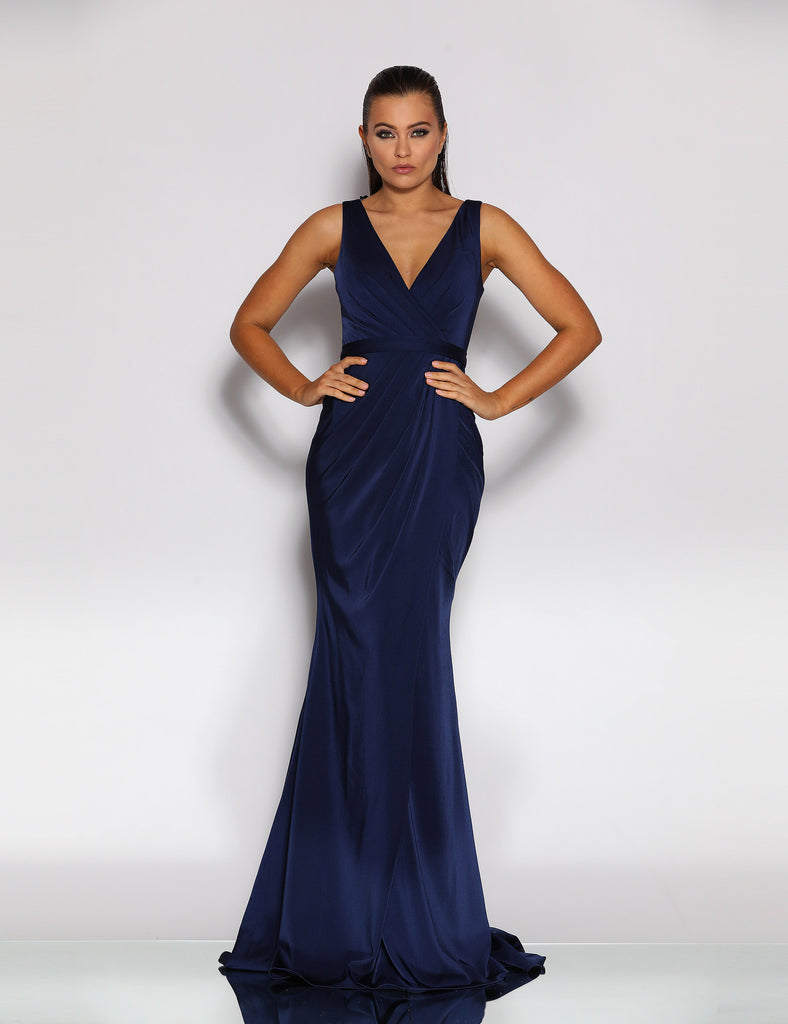 Made To Order: Giana Drape Gown by Jadore