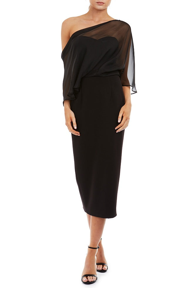 Hope Midi Dress by Georgy Collection - Black