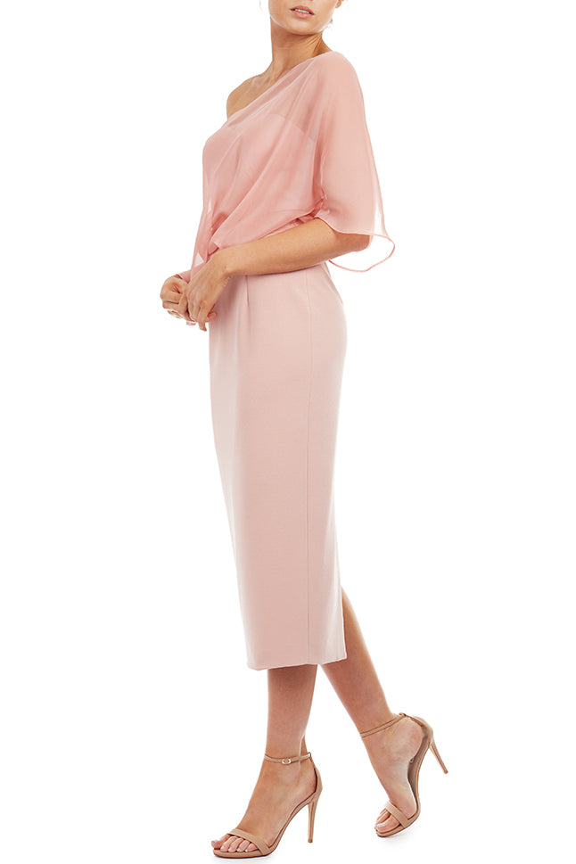 Hope Midi Dress by Georgy Collection - Pink