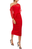 Hope Midi Dress by Georgy Collection - Red