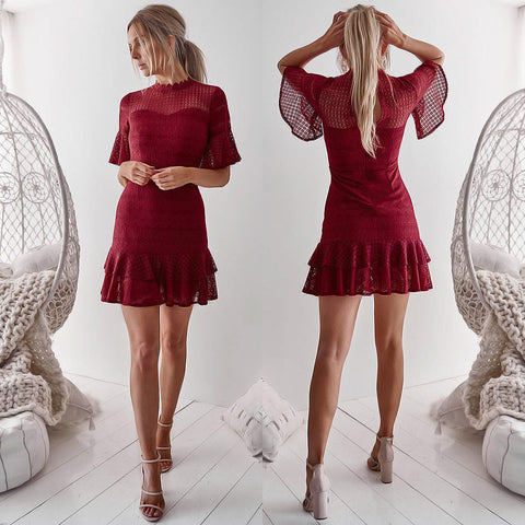 Azalea Dress - Burgundy