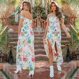 Harbour Maxi Dress - White Print