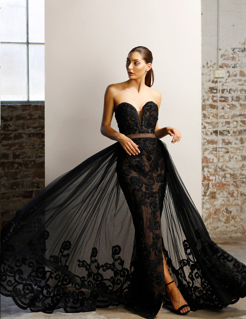 Hera Gown by Jadore - Black