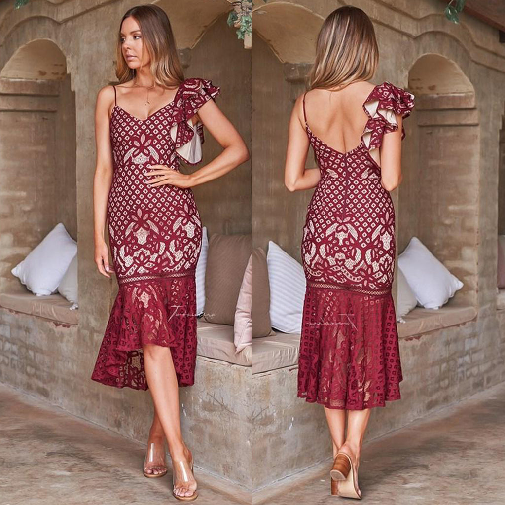 Hillary Dress - Maroon