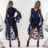 Pre-Order: Holly High Low Dress - Navy