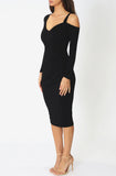 Juliette Midi Dress - Black