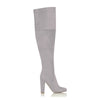 Lara Slate Grey Suede Knee High Boots by Billini