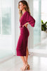 Lue Midi Dress - Burgundy