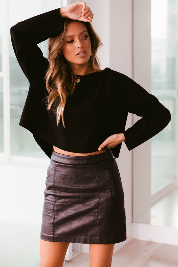 Lulu Cropped Knit - Black
