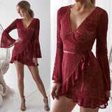 Lisa Dress - Maroon