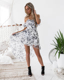 Louise Dress - Black Print