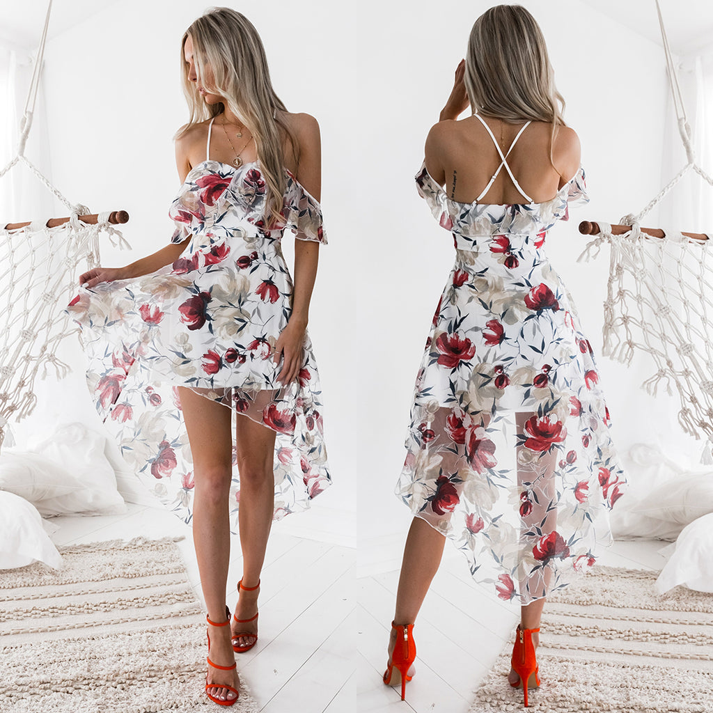 Louise Dress - Red Print