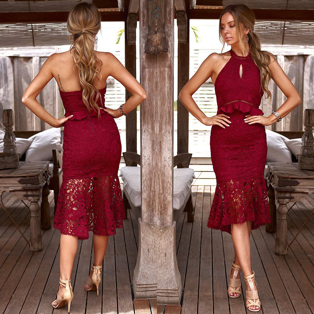 Matilda Dress - Maroon