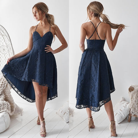 Sultry Two Piece Dress Set - Navy