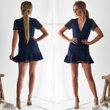 Marina Dress - Navy
