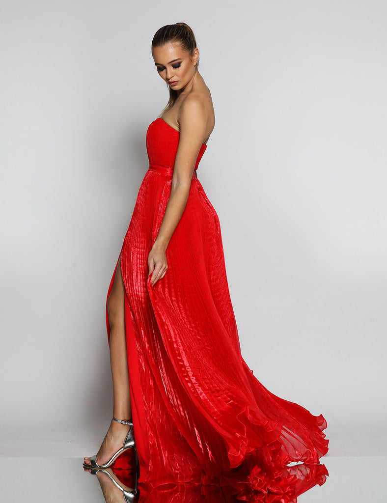 Made To Order: Maya Pleated Gown by Jadore