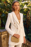 Mind Yours Blazer - White