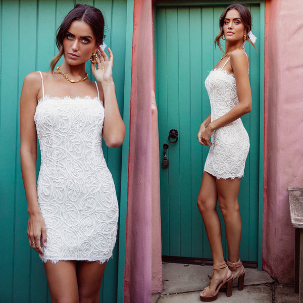 Nakoda Lace Dress - White