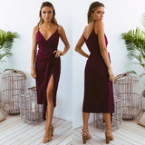 Natasha Midi Dress - Plum