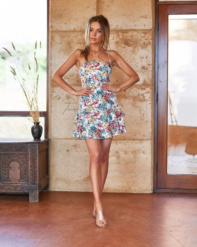 Nicole Dress - Print Embroidery