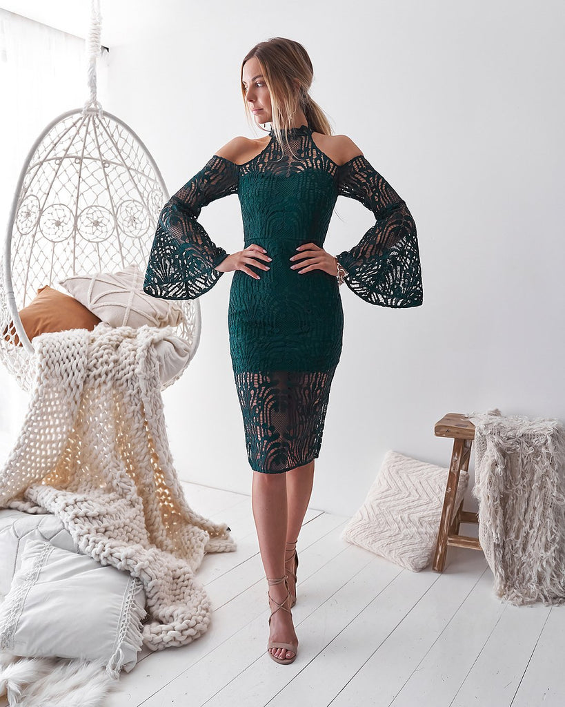 Nayla Dress - Emerald Green