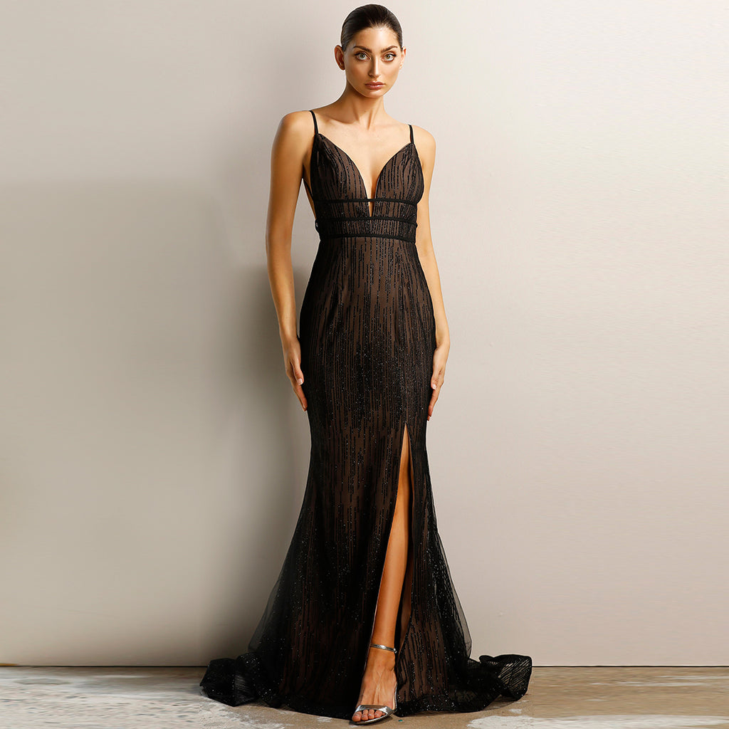 Made To Order: Nova Glitter Gown by Jadore