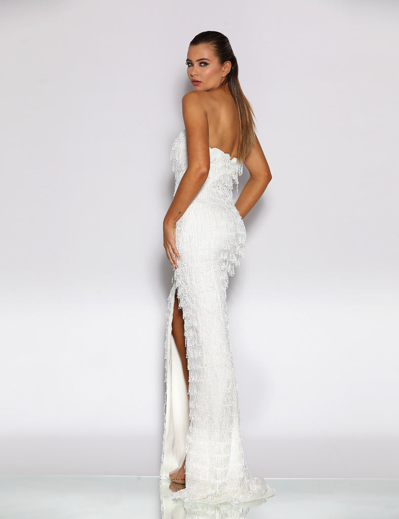 Made To Order: Omaira Sequin Gown by Jadore