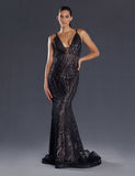 Made To Order: Ophelia Sequin Gown by Jadore