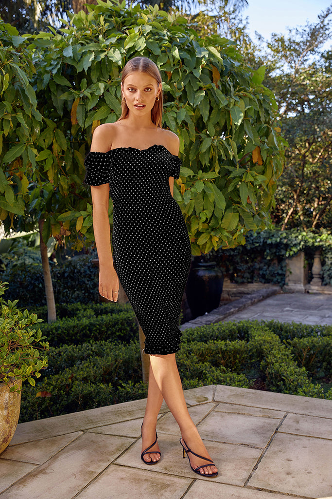 Pipa Dress - Black/White Polka Dot