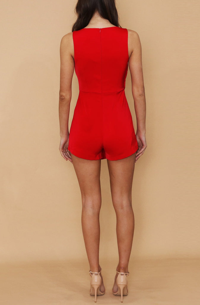 Paola Playsuit - Red